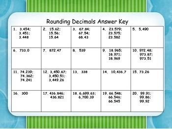 Rounding Decimals Task Cards with QR Codes