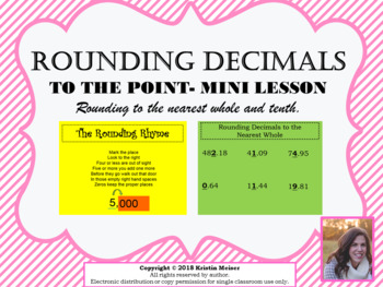 Rounding Decimals - Tenths and Hundredths