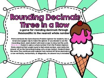Rounding Decimals-Three in a Row