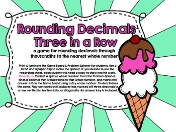 Rounding Decimals-Three in a Row