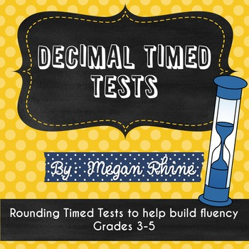 Rounding Decimals Timed Tests