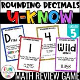 Rounding Decimals Game | U-Know Math Review Game | 5th Grade 5.NBT.4