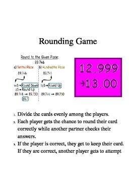 Rounding Decimals Unit