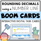 Rounding Decimals Using A Number Line Boom Cards Distance