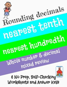 Rounding Decimals Who Am I? Inventor Worksheets 6 Pack