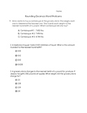 Rounding Decimals Word Problems