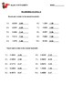Rounding Decimals (tenths) Worksheet with Answer Key
