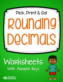 Rounding Decimals Quiz, Rounding Decimals Test Worksheets Assessment, Practice