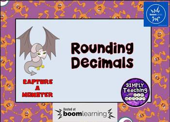 Rounding Decimals and Whole Numbers Digital Book Cards Task Cards Eureka Math