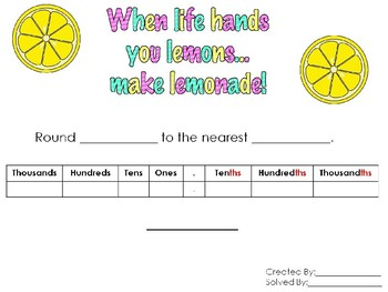 Rounding Decimals to Any Place Value