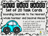 Rounding Decimals to a Specific Place Value - Task Cards -