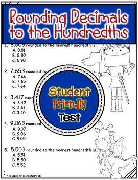 Rounding Decimals to the Hundredths Test