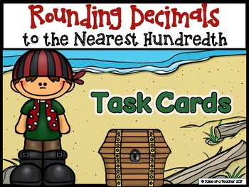 Rounding Decimals to the Nearest Hundredth Task Cards