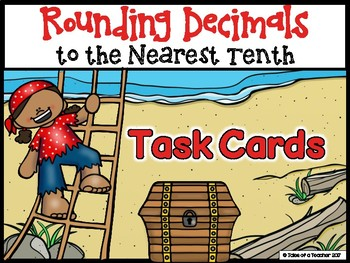 Rounding Decimals to the Nearest Tenth Task Cards