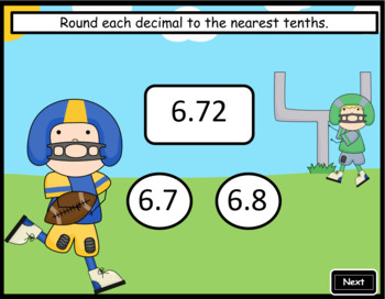 Rounding Decimals to the Nearest Tenths ~ Interactive PPT Game