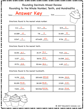 5 Nbt 4 Rounding Decimals Homework Worksheets By Simply Coaching And Teaching
