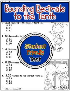 Rounding Decimals to the Tenths Test