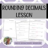Rounding Decimals with Number Lines - Notes & Practice