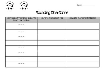 Rounding Fun with Dice