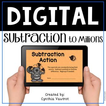 Subtraction Digital Activity with Google Slides