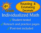 Rounding & Estimating Decimals, 4th grade - worksheets - Individualized Math