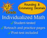 Rounding & Estimating Decimals, 5th grade - worksheets - Individualized Math