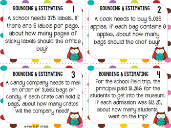 rounding and estimating task cards game by fun in 5th grade tpt. Black Bedroom Furniture Sets. Home Design Ideas