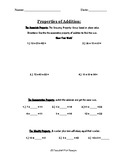 Rounding, Estimating, and Properties of Addition Handout
