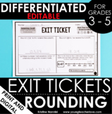 Rounding Exit Tickets   Differentiated Math Assessments - Digital Google Slides
