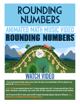 Rounding Numbers | FREE Math Poster, Worksheet, & Fun Video | Differentiated