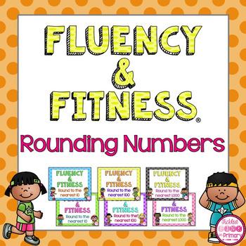 Rounding Numbers Fluency & Fitness Brain Breaks Bundle
