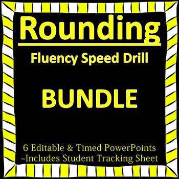 Editable Rounding Fluency - 6 PowerPoints