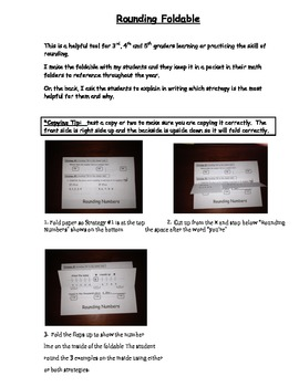 Rounding Foldable - common core friendly