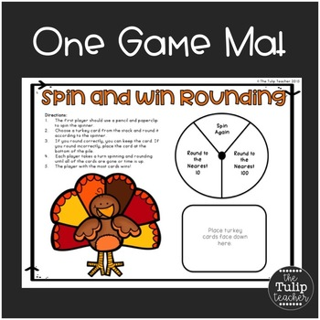 Free Rounding Game and Rounding Quiz {Thanksgiving Themed}