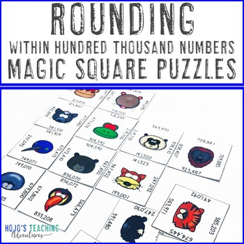 Rounding Hundred Thousand Numbers Math Centers Activity | Rounding Games