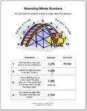Rounding Graphic Organizer & Math Boxes