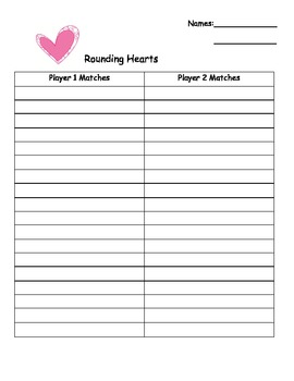 Rounding Hearts Valentine's Day Center Game