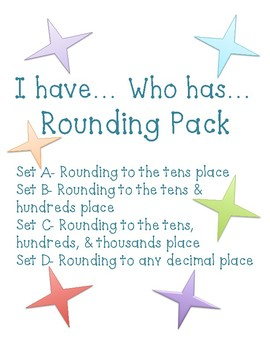 Rounding- I Have, Who Has