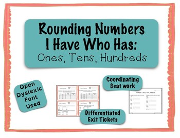Rounding Game -I Have Who Has - Ones, Tens, Hundreds {Diff