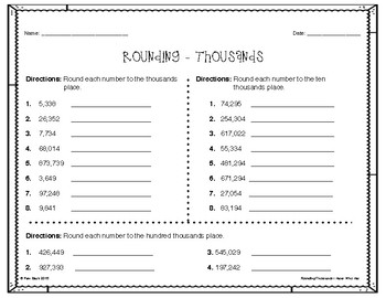 Rounding Game - I Have Who Has - Thousands {Differentiated}