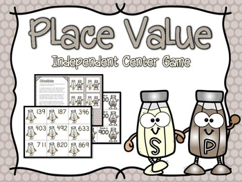 Place Value Independent Center Game #2