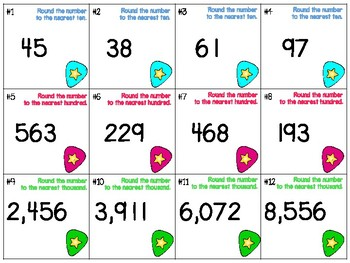 Place Value Independent Center Game