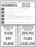 Rounding Interactive Notebook (English and Spanish)