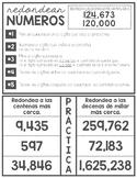 Rounding Interactive Notebook (English and Spanish)