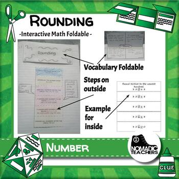 Rounding Interactive Notebook Math Foldable