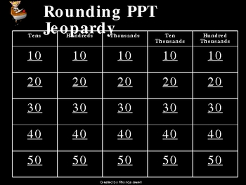 Rounding Jeopardy PPT