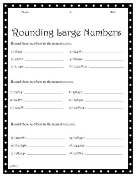 Rounding Large Numbers - NBT.3