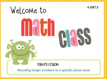 Rounding Larger Numbers- 4.NBT.3