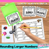 4th Grade Math: Rounding Larger Numbers Task Cards