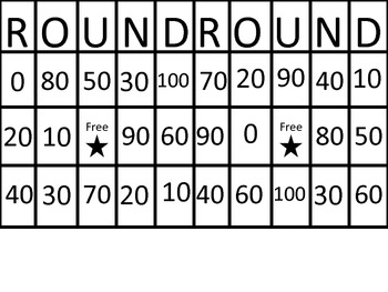 Rounding- Learn to Round Numbers while playing Bingo